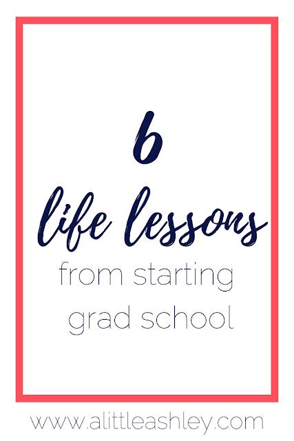 grad school lessons