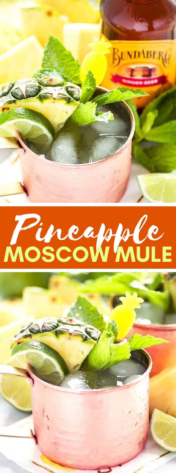 Simple Pineapple Moscow Mule Recipe #drinks #summerdrink
