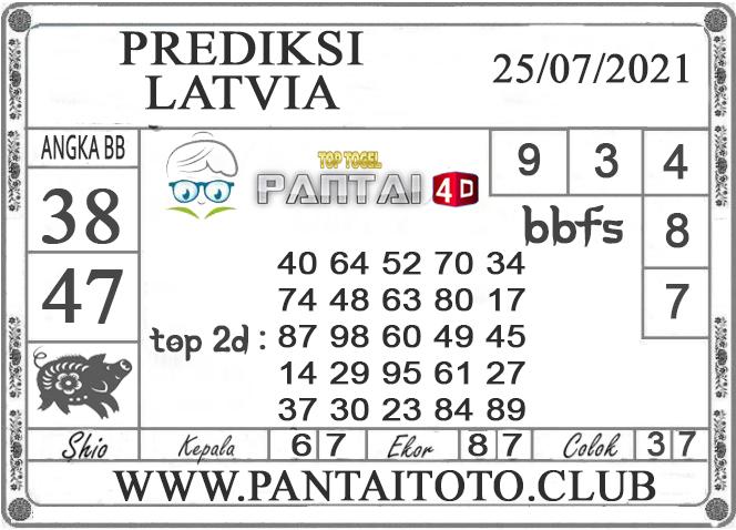 PREDIKSI TOGEL LATVIA PANTAI4D 25 JULI 2021