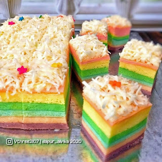 Cake bolu rainbow