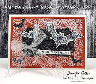 Stampin' Up!'s Hallows Night Magic Bundle!  Check out the blog for video link and supplies list!  #StampTherapist #StampinUp