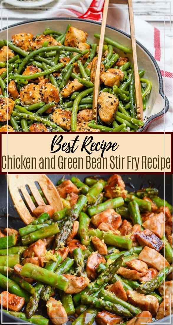 Chicken and Green Bean Stir Fry Recipe #healthyfood #dietketo #breakfast #food