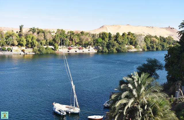 Faluca en el río Nilo, Egipto