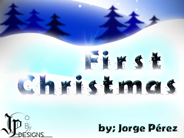 First Christmas Holiday Font Free Download