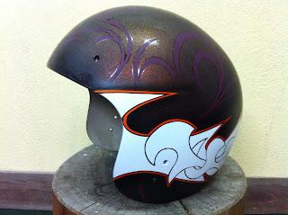 461325895 - カスタムペイント工程  ジェットヘルメット 祭雲天女