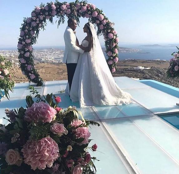 Stephanie-Coker-Olumide-Aderinokun-white-wedding-Greece