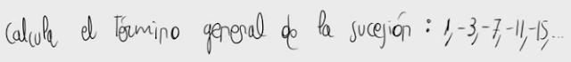 5. Término general de una progresión aritmética 1