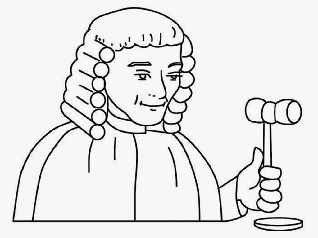 free pintable judges colouring pages