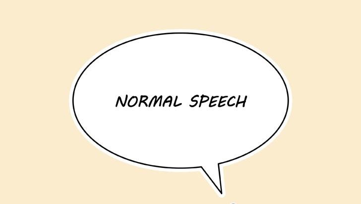 Manga normal pidato gelembung