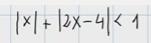 1.Inecuación de primer grado con varios valores absolutos 1