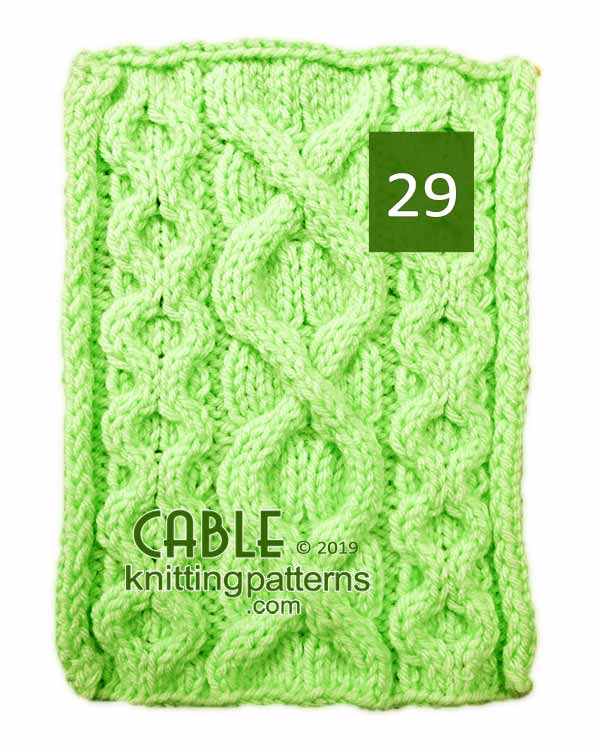 Cable Knitting Pattern 29