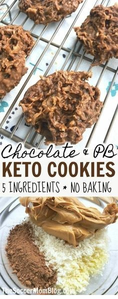 Chocolate & Peanut Butter Keto No Bake Cookies