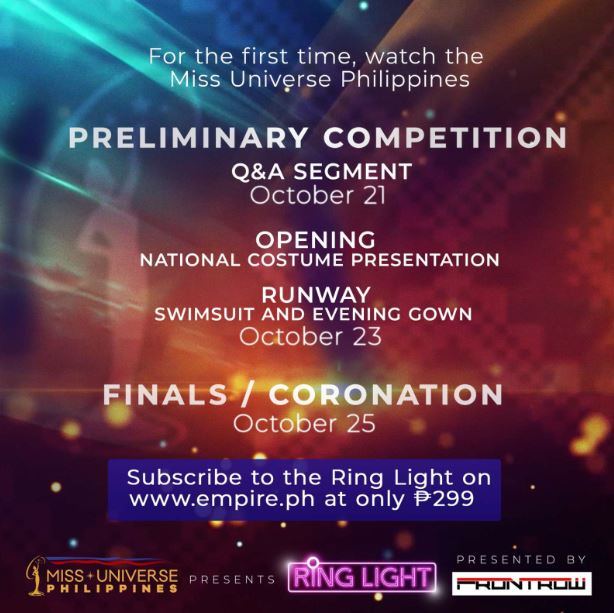 How to watch Miss Universe Philippines 2020 Prelims, Coronation