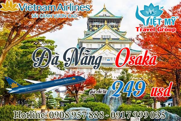 Khuyến mãi Vietnam Airlines Đà Nẵng đi Osaka