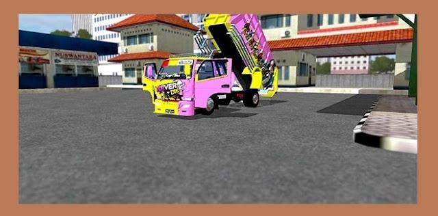 MOD Truck Canter Dump DOP Crome