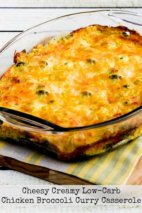 Cheesy Creamy Low-Carb Chicken Broccoli Curry Casserole