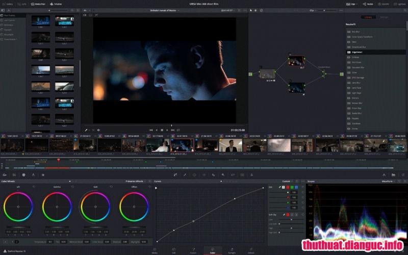 Download Davinci Resolve Studio 15.2.0.33 Full Cr@ck – Chỉnh màu sắc video mạnh mẽ