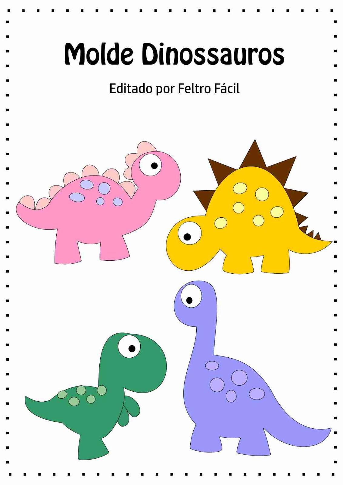 Well-known Feltro Fácil Moldes e Apostilas: Molde de Dinossauros em Feltro! VJ66