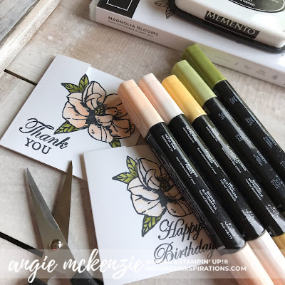 Stampin' Up!® Supplies for the mini Magnolia Bloom 3x3 cards