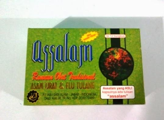 Jamu Assalam di kapsul pakai tulisan ASSALAM Original