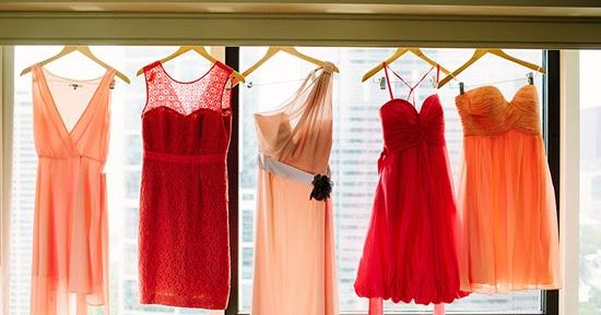 Bright Coloured Bridesmaid Dresses: Chic Bridesmaid Dress: Coral Bridesmaid Dresses