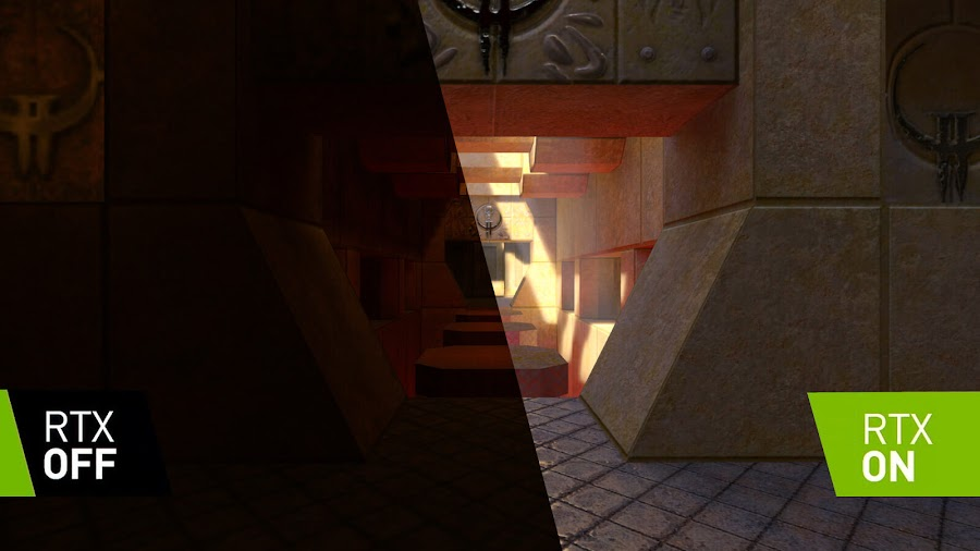 quake 2 rtx on off id software nvidia ray tracing remaster