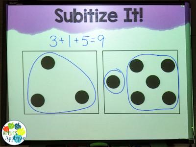 Subitize It! Number Talks for 1st Grade   Apples to Applique