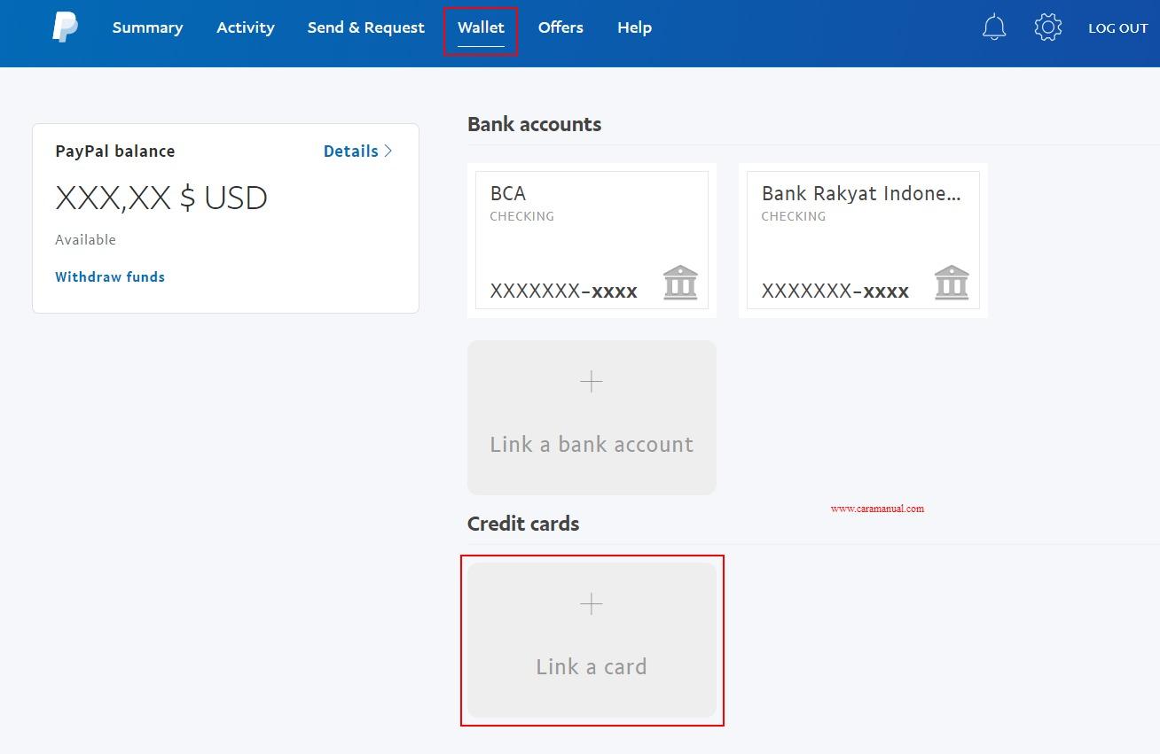 Menambahkan Kartu Kredit ke Akun Paypal