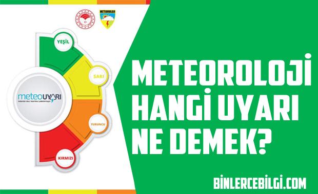 Turuncu alarm nedir? Meteoroloji uyarı renkleri anlamları, sarı alarm nedir? kırmızı alarm ne demektir? turuncu uyarı ne anlama gelir? Meteouyarı renk anlamları, uyarılar ne ifade eder?