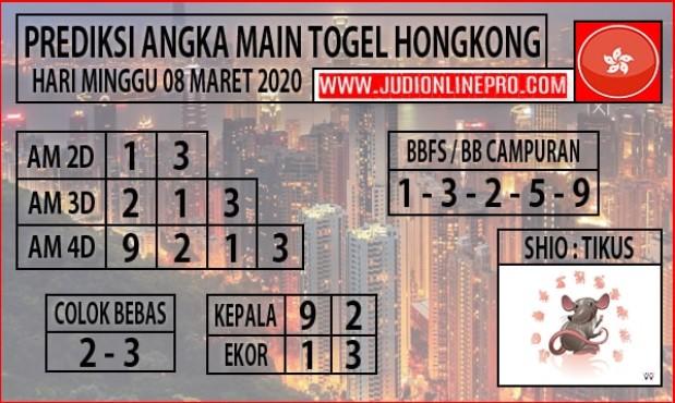 Prediksi Togel HK Minggu 08 Maret 2020 - Prediksi Angka Main