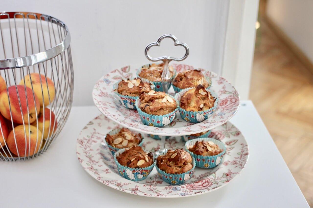 Rezept für zuckerfreie Apfel-Mandel-Muffins