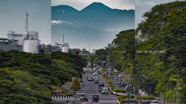 Mengintip Cara Pembuatan Foto Gunung Pangrango Dari Kemayoran Ala Ari Wibisono