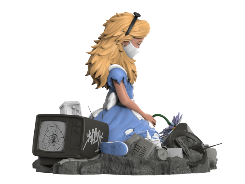 The Blot Says Alice In Wasteland Resin Figure By Abcnt X Mighty Jaxx