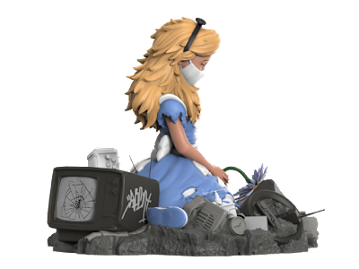 Alice in Wasteland Resin Figure by ABCNT x Mighty Jaxx