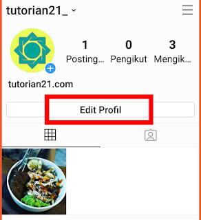 Menambahkan email ke Instagram 1