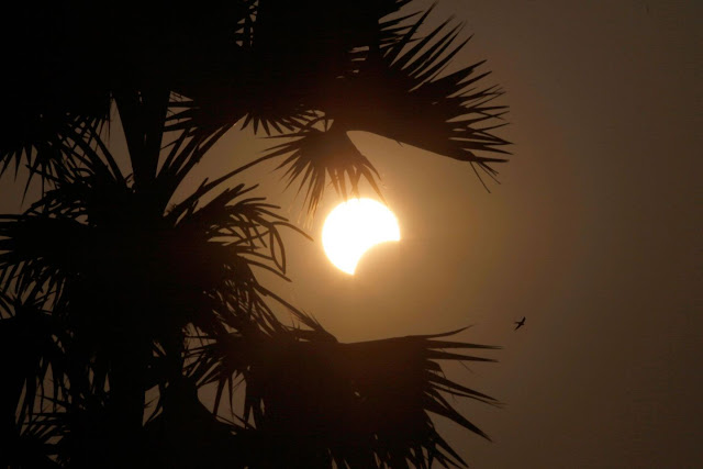 Solar Eclipse seen from Myanmar