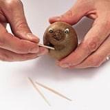 Kiwi Fuzzy Faces Step 3