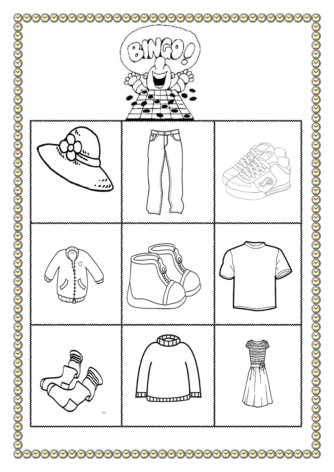 A Excellent Clothes Bingo
