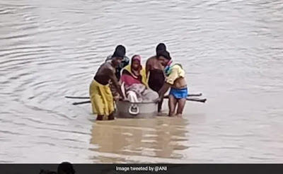 No Bridge, Pregnant Woman Carried In Utensil Across River To Hospital
