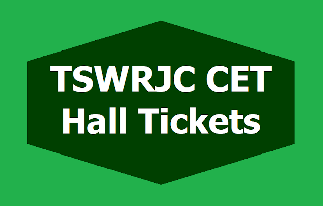 TSWRJC CET Hall tickets