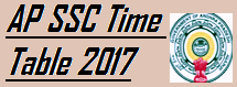 AP SSC Exam Time Table 2017 @bseap.org