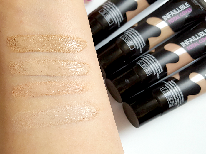 Review & Nuancen: L´Oréal Paris - Infaillibe Total Cover Foundation - 12 Natural Rose, 13  Rose Beige, 20 Sand, 30 Honey