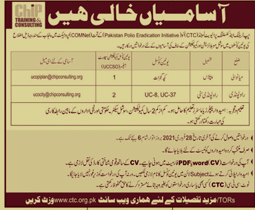 Latest Jobs in Chip Training & Consulting Private Limited 2021