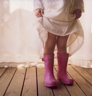 Little Girls Hunter Boots Pink Baby Hunters Rain Boots