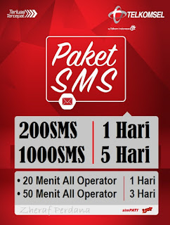 Pulsa SMS Telkomsel (simPATI, AS, Loop)