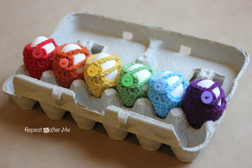 Crochet Egg Cozy Pattern - Repeat Crafter Me