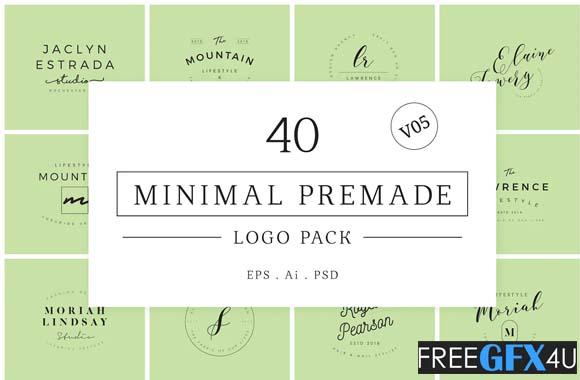 Minimal Premade Logo Pack V05