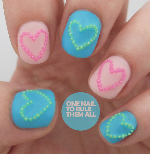 One Nail To Rule Them All: Neon Beads Nail Art