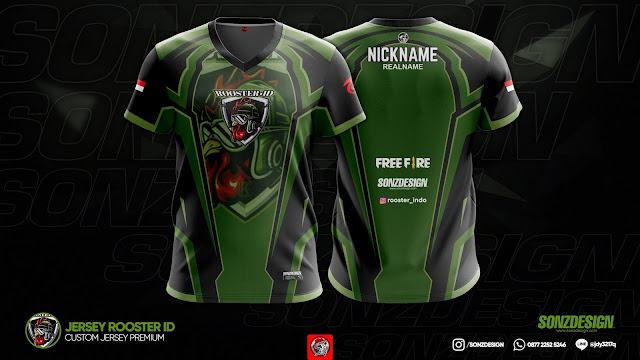 JERSEY GAMING ROOSTER ID