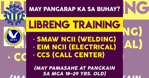 Libreng Training With Allowance | DCST & TESDA